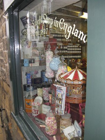 Oldest Sweet Shop In England: front window