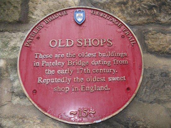 Oldest Sweet Shop In England: old shop designation