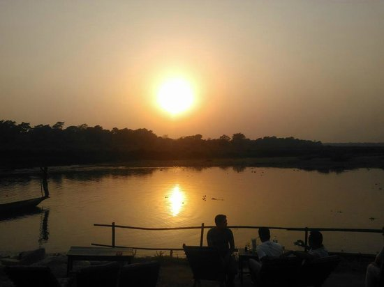 Narayani River : sunset