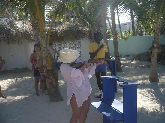 Iberostar Punta Cana: tiro con rifle