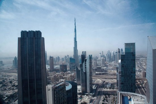 Rose Rayhaan by Rotana: view from sky premium suite at 63 floor