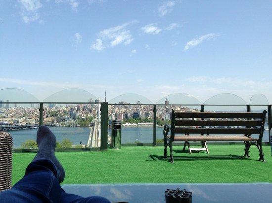 Hayriye Hanim Konagi Hotel: Terraza