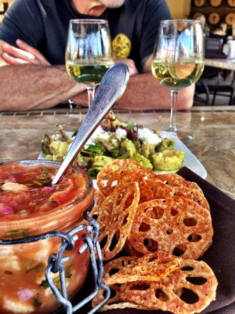 Wilson Creek Winery : Ceviche and calamari