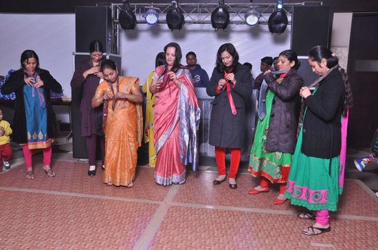 Medallion Chandigarh Zirakpur: Tie tying competition for females
