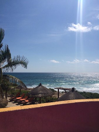 Villa La Bella: View from side balcony, perfect for sun bathing.