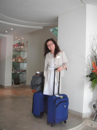 Melia Villa Capri Hotel & Spa: Multi-talented, multi-helpful Francesca (reception)