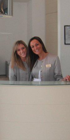 Melia Villa Capri Hotel & Spa: Alessia and Roberta, part of the excellent reception team.