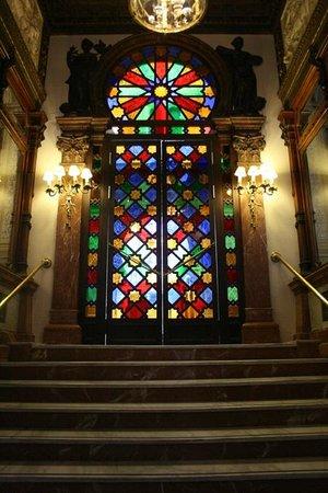 Real Casino de Murcia: Stained Glass Doorway