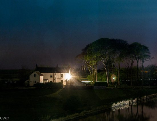 The Mill at Conder Green: Night view from room 17 up to Glasson Dock