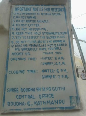Stûpa de Bodnath : rules