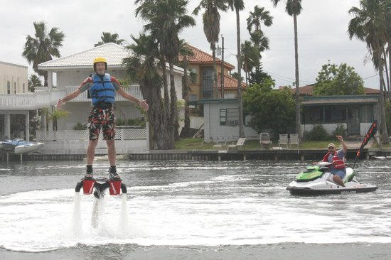 ‪Flyboarding South Padre Island‬