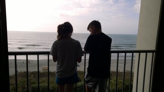 Grande Shores Ocean Resort: Our Ocean View balcony (son and gf)