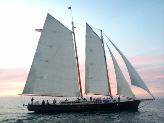The Schooner Hindu, Hindu Charters: Another sailboat out on the water for a sunset sail