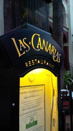 Las Canarias Restaurant: sign