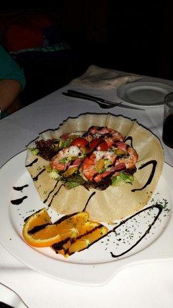 Tehuelche Grill Argentino : Ensalada de langostinos