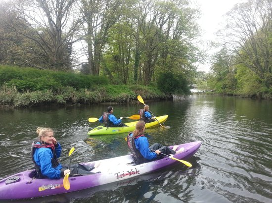 City Kayaking: Our team kayaking