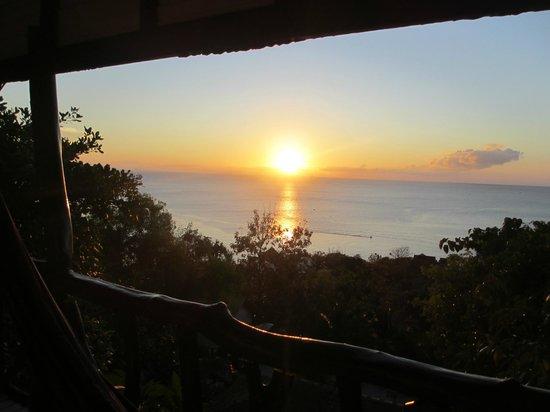 Tantawan Bungalow : Sonnenuntergang vom Balkon aus