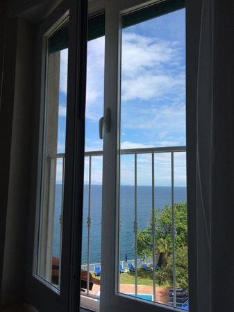 Continental Mare Hotel: View from out suite - lying on the bed.