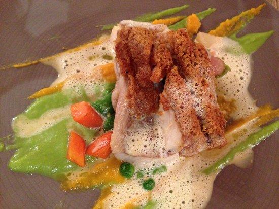 Restaurant beaune Le Fleury: Menu bienvenu, Main course, fish
