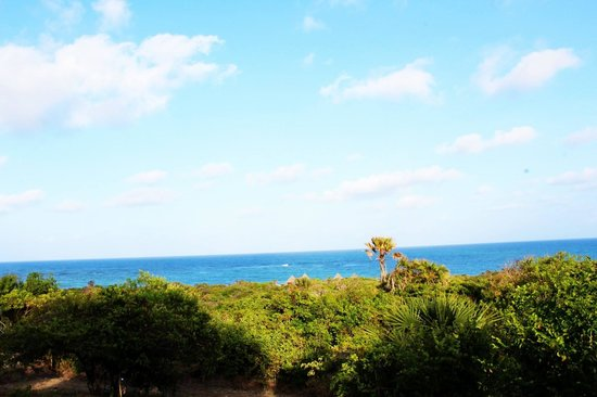 Changani Beach Cottages: veiw from bahari cottage