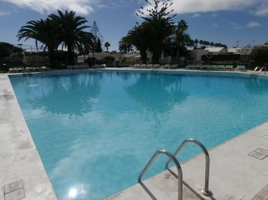 Santa Clara Bungalows: pool behind the bar.