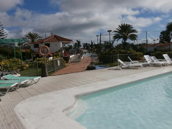 Santa Clara Bungalows: View of bar from pool