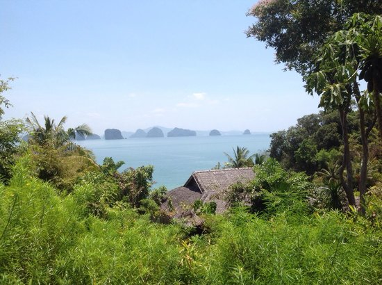 Six Senses Yao Noi: Our view at lunch from the Den