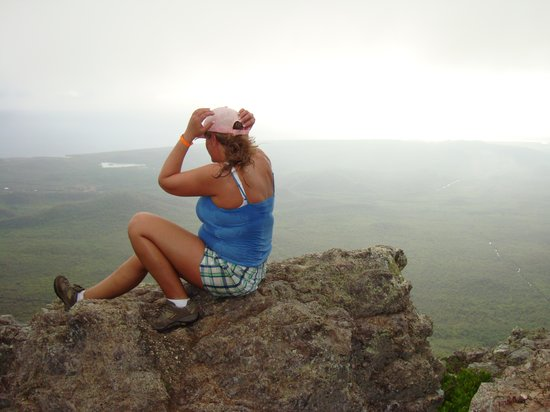 Mount Christoffel : Enjoying the view from top of Mt Christoffel