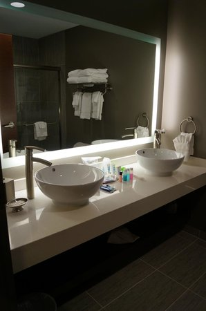 Wyndham Garden Buffalo Williamsville : King suite - 2 sinks and large counter