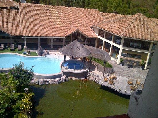 Aranwa Sacred Valley Hotel & Wellness: Panoramica desde el campanario de la iglesia
