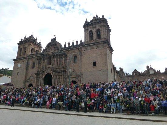 Catedral del Cuzco o Catedral Basílica de la Virgen de la Asunción: Catedral en Domingo de Ramos