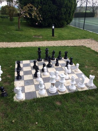 Charingworth Manor : The outdoor chess set! Would be lovely in the Summer!