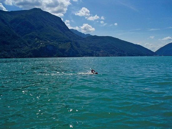 Grand Hotel Villa Castagnola: If you like open water swimming, Lugano is your place. Rent safety boat and dive in on hotel gro