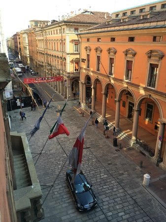 """Grand Hotel Majestic """"Già Baglioni"""": View of via Independenza from our room"""