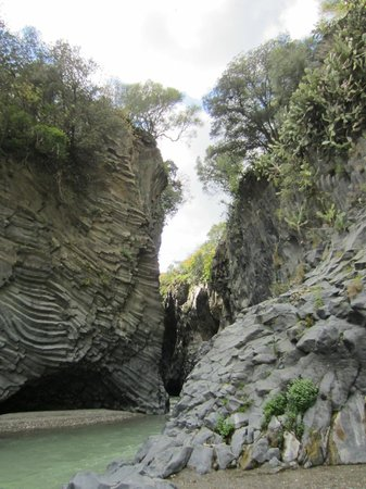 Etna Experience Excursions: Bottom of Alcantara gorge