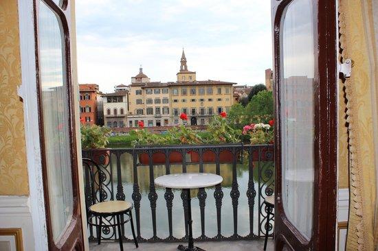 Hotel Bretagna : Vistas desde la recepción