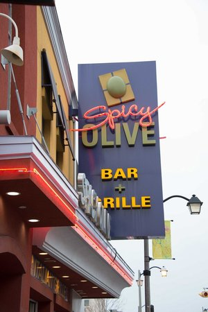Spicy Olive Bar and Grill: 1/2 block past the corner of Clifton Hill and Victoria Ave