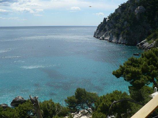 Hotel Weber Ambassador Capri : View from the terrace - walk to Marina Piccola