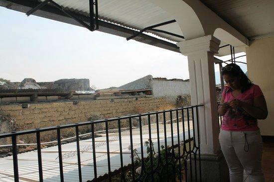 Hotel Posada Dona Luisa: vista desde el 2do nivel del hotel