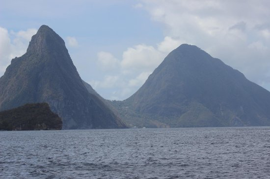 St. James's Club Morgan Bay : The Pitons from the water