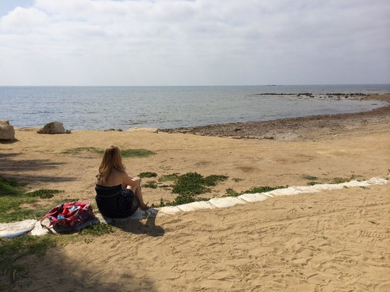 Louis Phaethon Beach : View out to see from volleyball court
