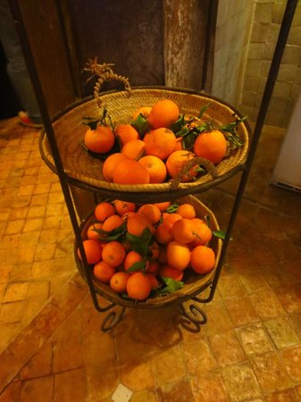 Riad Laaroussa Hotel and Spa : The source of the world's most delicious orange juice!