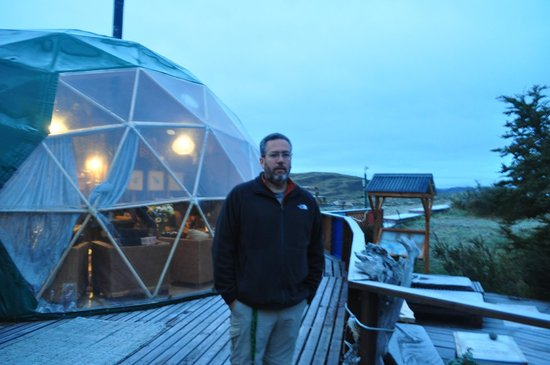 Ecocamp Patagonia: Outside the restaurant
