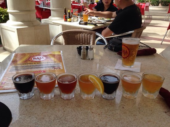 Baja Brewing Company: Sampler de cervezas