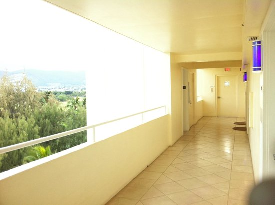 Lotus Honolulu at Diamond Head: Hallway from elevator to room