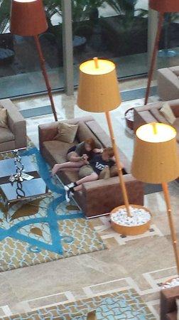 Hilton Dalaman Sarıgerme Resort & Spa: Looking down on the foyer . .