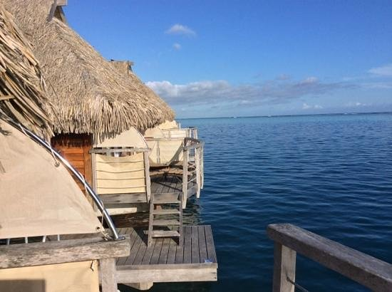 Manava Beach Resort & Spa - Moorea : the view from our balcony