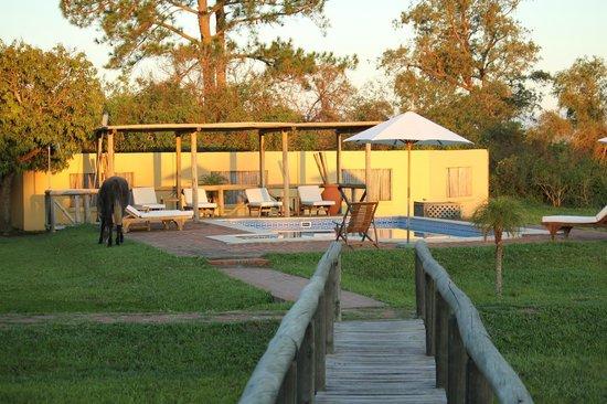 Irupe Lodge: jardin del hotel y pileta