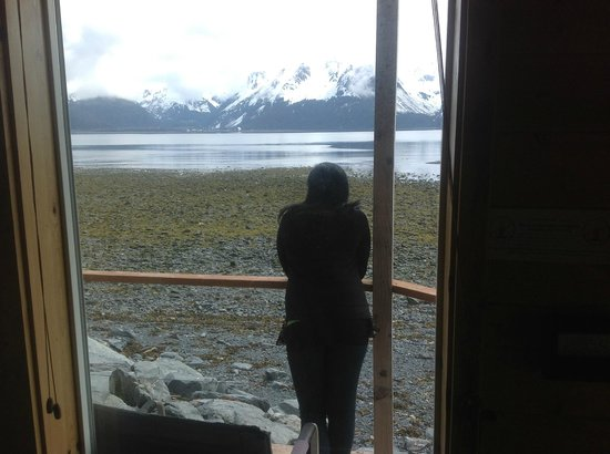 Angels Rest on Resurrection Bay, LLC: My wife enjoying the view from our patio