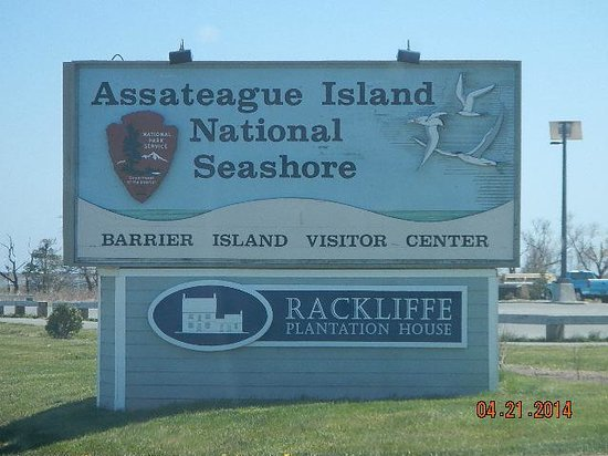 Assateague Island National Seashore: entry sign
